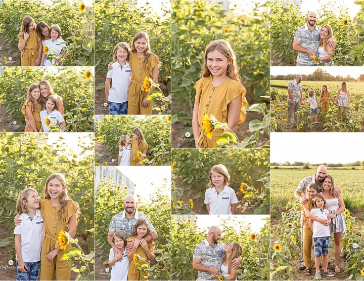 Family Photos in a Sunflower Field | Ottawa Photographer