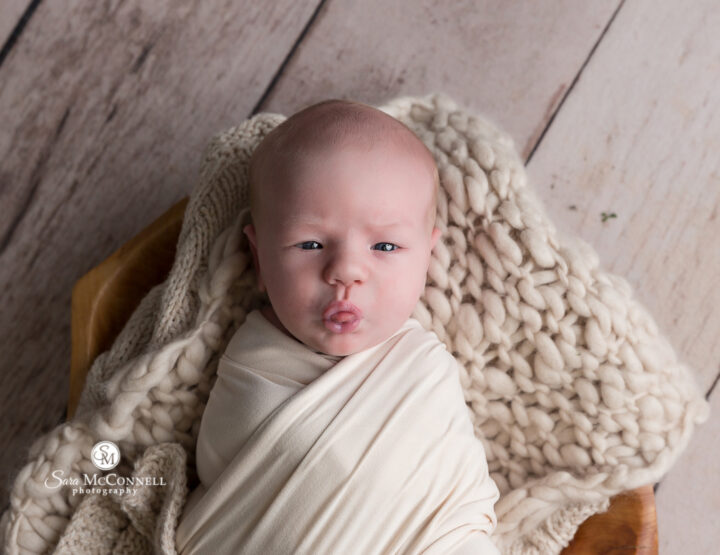 The Best Facial Expressions | Ottawa Newborn Photographer