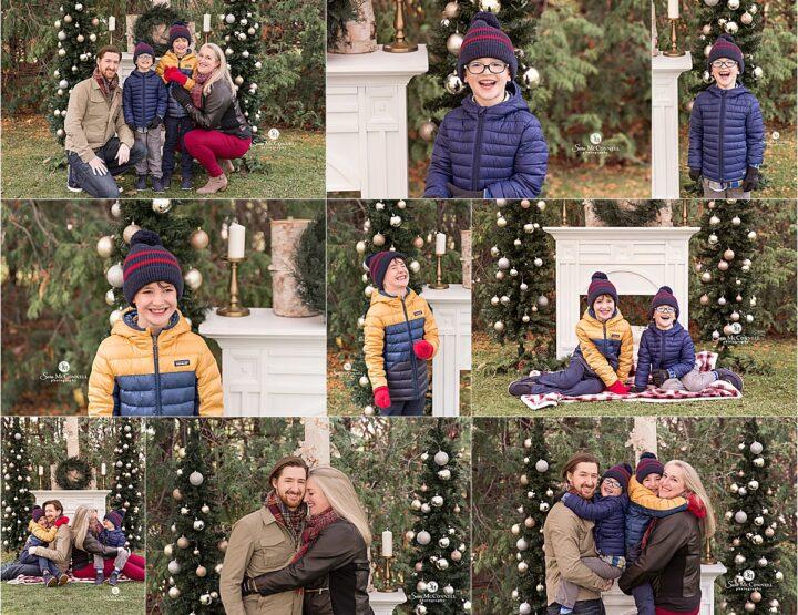 Christmas Trees By The Fireplace | Ottawa Christmas Photos