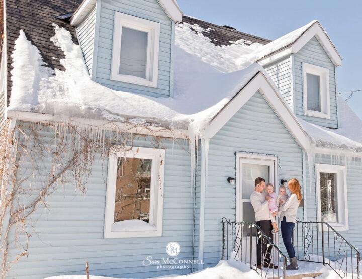 Beautiful Blue House | Ottawa Family Photographer